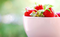 red & bokehlicious (*Peanut (Lauren)) Tags: red green fruit 50mm strawberry bokeh strawberries flickrdorks hbw bokehwednesday basicallynopostprocessingjuststraightenedimageinpicnik bebesaidtomakeitbokehliciousinhbwsoifollowtheleader whereisdapinklovah ohitstherep yourtagsarehillarious thedonkeycanbiteme iaminthedonkeyhatersclubp youknowyouguysarehilariousandhavetakenovermytags maybewecouldstartafuntagsgroup pinkrocksmysocks weneedtogetpinkladiesjackets donkeyisnotworkingtoday