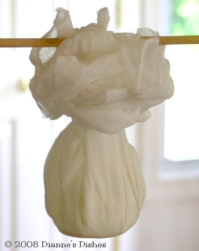 Labneh In Cheesecloth