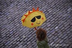 always carry your happy umbrella... (edeevo) Tags: england sun london smile umbrella nikon cobblestone d200 18200mmf3556gvr edeevo edeevophotography