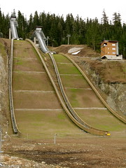ski jumps at callaghan valley