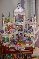 Playmobil Castle (raining rita) Tags: castle kitchen miniatures bedroom king princess spires balcony toads prince steeple stairway queen frogs attic crown yardsale parlor playmobil