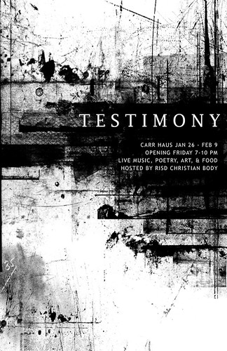 Testimony Poster- print