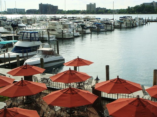Umbrellas: Detroit Yacht Club