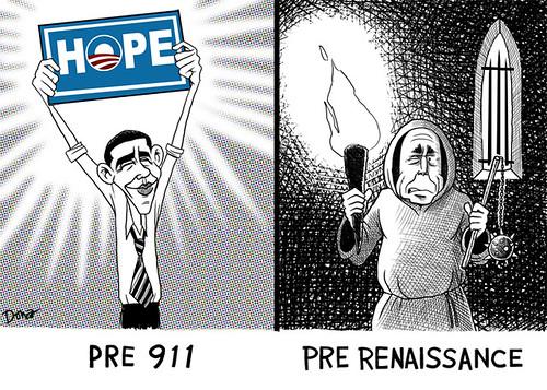 pre 911 barack obama cartoon