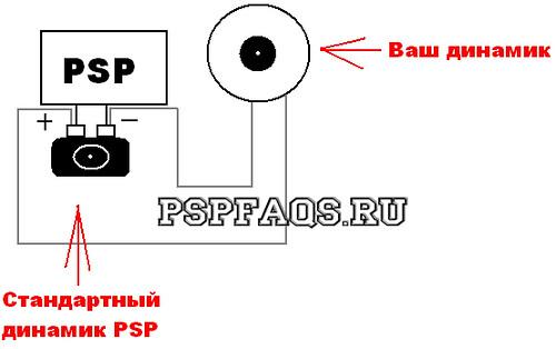 Подключение динамика осуществляется по элементарной параллельной схеме.