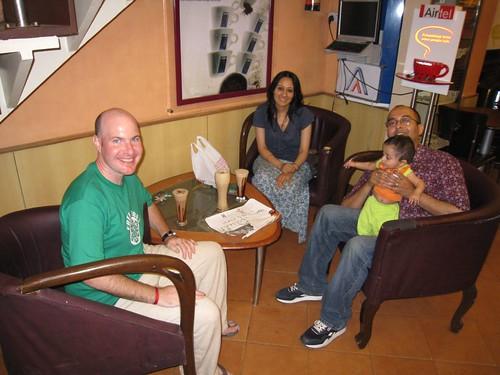Neil, wife Shruti, and son Shivain
