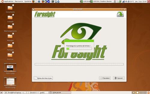 Début de l'installation de Foresight Linux 2.0.3