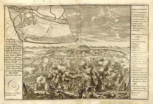 Predstavljanje velicanstvene pobede Karla 6. nad Turksom kod Beograda by Joh David + Ben Kenckel, 1717