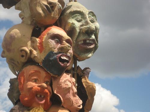 Masques de la marchande de peur