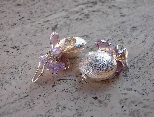 Silver Fruits earrings