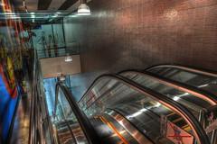 Elevator -green (zorroz) Tags: nikon elevator shoppingmall shops novisad hdr shoping artisticexpression photomatixpro hdrfrom3jpegs nikond300 goldstaraward nikkor1685vr