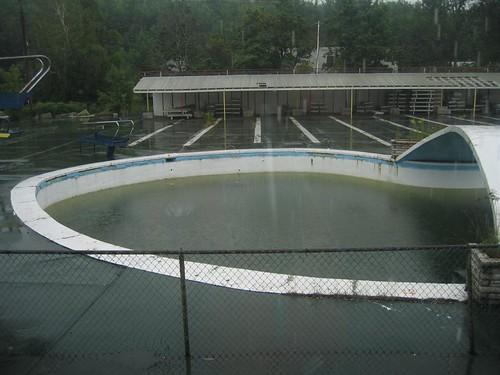 Nasty rainwater filled pool