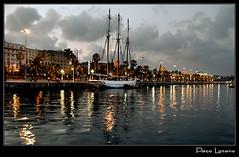 Barcelona -Puerto nocturno-