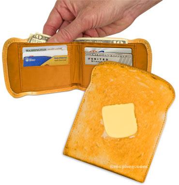 Torrada com Manteiga em forma de carteira