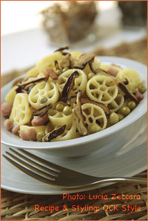 Pasta: Rotelle with Mushrooms...