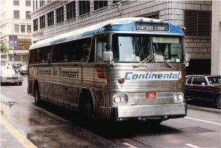 Continental Air Transport bus. Downtown Chicago Illinois. May 1983. by Eddie from Chicago