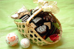 chocolate basket (LynnInSingapore) Tags: food dessert chocolate raspberry whisky feuilletine hazelnut gingercaramel