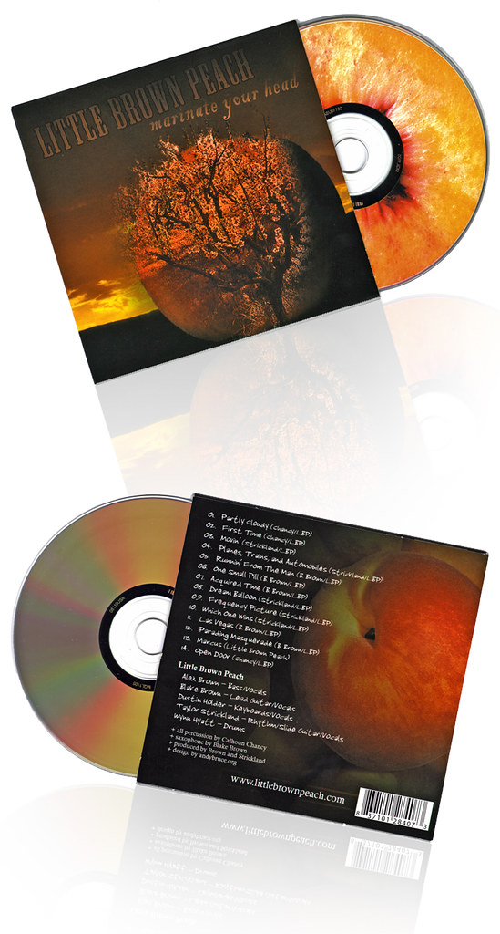 Little Brown Peach -- Marinate Your Head // CD Packaging