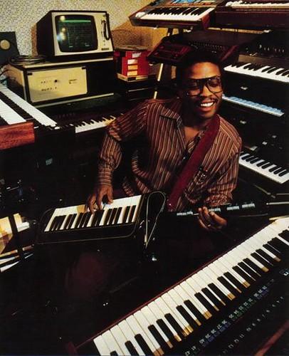 Herbie Hancock in the studio