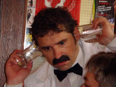 Manuel at the Faulty Towers Dining Experience, Edinburgh