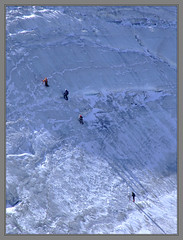 Climbers going up the Aguille Vert (Cold Mountain) Tags: mountains alps ice glacier climbing chamonix climbers