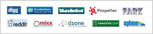 Social news sites logos