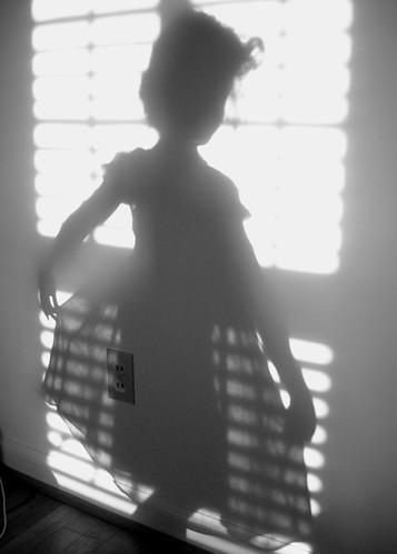 Shadow Dancing (my 7 year old)