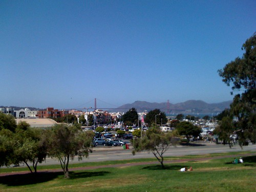 The view from Slow Food Rocks at Fort Mason, SF