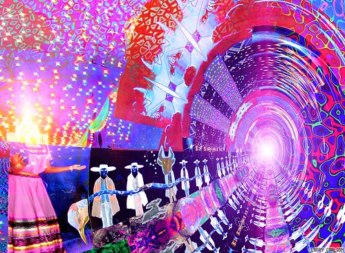 LARRY CARLSON, INTO THE COSMOS PIVOT, digital chromogenic print, 26x22in., 2006.