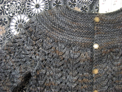 February Baby Sweater Close-Up