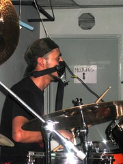 Drummer with facemask