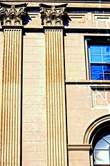 Corinthian Columns (floralgal) Tags: architecture columns style oldbuildings elegant corinthiancolumns wndows geometricshapes archwindows corinthiancapitals irvingtonnewyork architecturalcolumns westchesternewyork creativecomposition oldworldstylearchitecture classicalordersofcolumns creativecompositionwithcolumns linesandangle