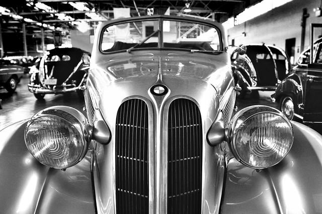 auto bw classic car vintage automobile nashville tennessee 1938 convertible bmw 320 cabriolet lanemotormuseum canoneosdigitalrebelxti anawesomeshot sigma1770mmf2845dc diamondclassphotographer flickrdiamond