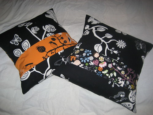 Front of my sister's cushions