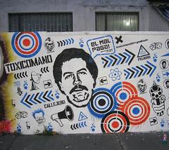 El Mal Paga!! (Toxicómano) Tags: streetart stencil colombia bogotá cocaine pabloescobar pochoir cocaína toxicómano narcotráfico elpatrón elmalpaga