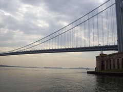 In the Shadow of the Bridge (22nyharborparks) Tags: park nyc bridge usa ny water america harbor boat nationalpark weed war fort military battery guns statenisland narrows cannons wadsworth verrazanonarrowsbridge verrazano newyorkharbor nyharbor fortwadsworth batteryweed harbordefense casematedbattery