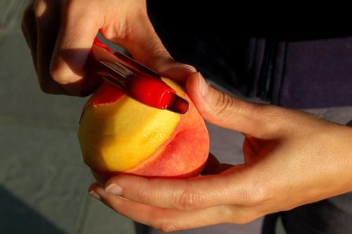 Peach Color Kitchen Decor