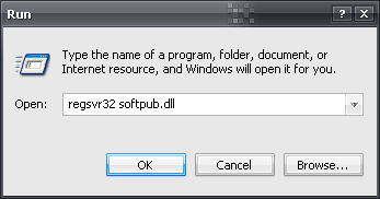 registering softpub.dll
