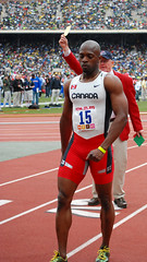 False Start (Starmaker Photos) Tags: carnival canada man black male college sports field race photography athletic athletics university track pennsylvania muscular running run canadian penn africanamerican runner sprint 2008 hurdles relays sprinting bopr