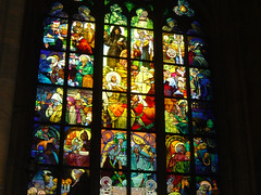 St. Vitus Cathedral window detail (tefreese) Tags: prague isap globalmethconference