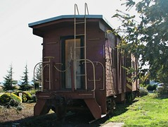 Western Pacific #658 Bay Window Outside Braced Caboose, 1943 2 (Jack Snell - Thanks for over 26 Million Views) Tags: old city window car station vintage outside bay virginia pacific antique caboose pullman passenger benicia 658 braced wectern