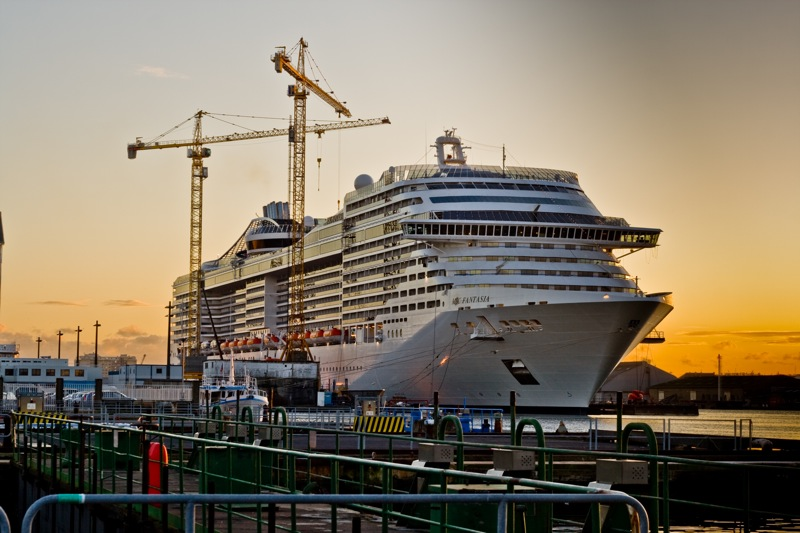MSC Fantasia Building in St Nazaire
