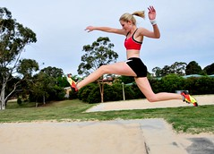 Emma Athletic - jumping (beeater) Tags: athletics models emma beautifulwomen longjump sportygirls australianmodels canberramodels femaleathletics longjumping womeninsport emmamodel modelmayhem721380 blondeathletes sportywomen