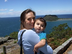 Meghan, Oliver, and Barrenjoey Head