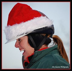 Festive Mounted Policewoman (Don Iannone) Tags: trees woman happiness icerink skaters clevelandohio policewoman laughter soe earlyevening christmashat universitycircle blueribbonwinner supershot bej artdisplays doniannone overtheexcellence nikond80camera goldstaraward multimegashot allkindsofbeauty mallmixstaraward clevelandphotographicsociety salmonandbluesky nikond40xcamera