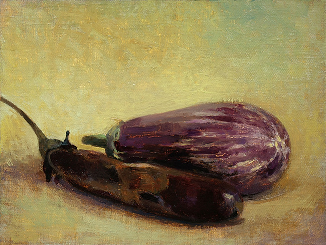 Eggplants, in progress 2