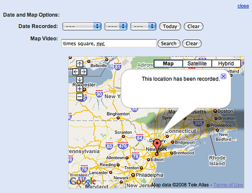 YouTube Map Option