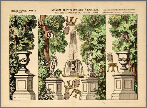 009- Decorados representando el Jardin de Luxemburgo de Paris