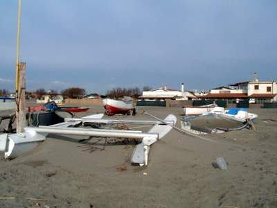 Fregene beach after storm