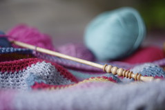 my winter pastime (Eliza Boo) Tags: wool canon crochet 50mmf18 prettycolours 40d